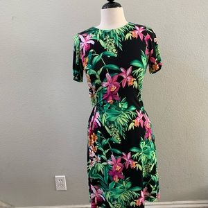 Tommy bahama tropical floral jersey mini dress S